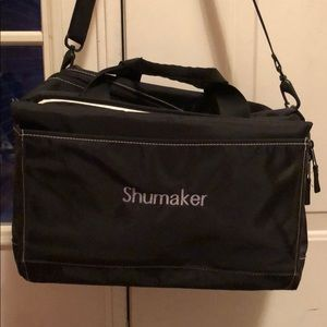 Lands End Diaper Bag engraved with Shumaker